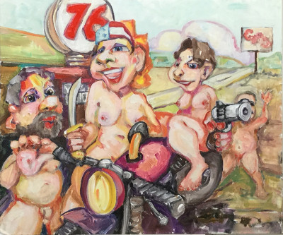 The Biker Chicks always pump their own gas